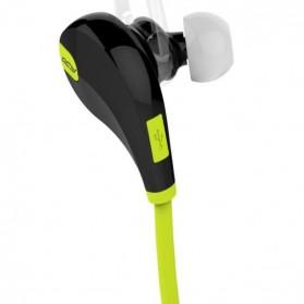 QCY Bluetooth Earphone Olahraga dengan Mic - QY7 (ORIGINAL) - Green - 4