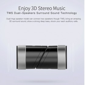 QCY BOX1 Speaker Bluetooth Portable 3D Stereo - Black - 4