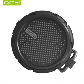 QCY BOX2 Bluetooth Speaker Waterproof with Carabiner - Black