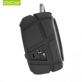QCY BOX2 Bluetooth Speaker Waterproof with Carabiner - Black - 3