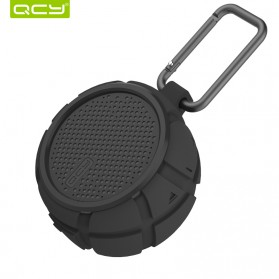 QCY BOX2 Bluetooth Speaker Waterproof with Carabiner - Black - 4