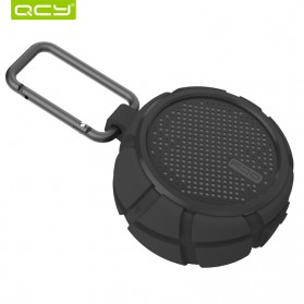 QCY BOX2 Bluetooth Speaker Waterproof with Carabiner - Black - 5