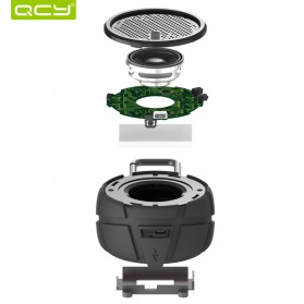 QCY BOX2 Bluetooth Speaker Waterproof with Carabiner - Black - 6