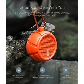 QCY BOX2 Bluetooth Speaker Waterproof with Carabiner - Black - 7