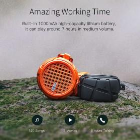 QCY BOX2 Bluetooth Speaker Waterproof with Carabiner - Black - 9