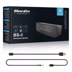 Bluedio BS-6 Bluetooth Speaker v5.0 Smart Cloud Voice Control - Black - 6
