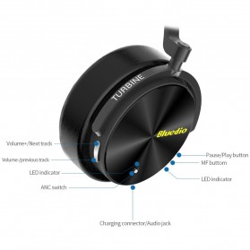 Bluedio Turbine Wireless Bluetooth Headphone - T5 - Black - 3