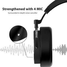 Bluedio Turbine Wireless Bluetooth Headphone - T5 - Black - 4