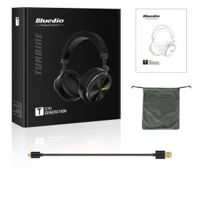 Bluedio Turbine Wireless Bluetooth Headphone - T5 - Black - 6