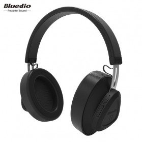 Bluedio TM Wireless Bluetooth 5.0 Voice Control Headphone with Mic - Black