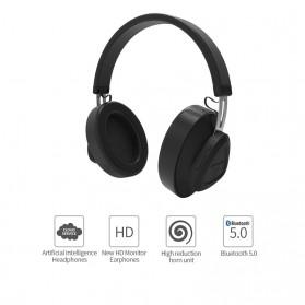 Bluedio TM Wireless Bluetooth 5.0 Voice Control Headphone with Mic - Black - 2