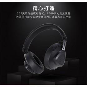 Bluedio TM Wireless Bluetooth 5.0 Voice Control Headphone with Mic - Black - 6