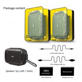 MIFA Waterproof Bluetooth Speaker with Carabiner - F7 - Blue - 6