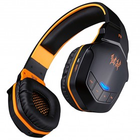 Kotion Each 2 in 1 Bluetooth Wireless Gaming Headset Deep Bass - B3505 - Black/Orange