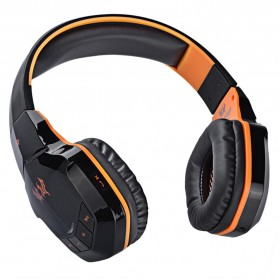 Kotion Each 2 in 1 Bluetooth Wireless Gaming Headset Deep Bass - B3505 - Black/Orange - 3