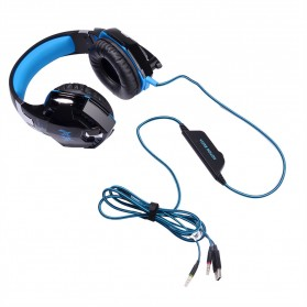 Kotion Each G2000  Gaming Headset Super Bass with LED Light - Black/Blue - 2