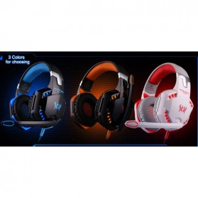 Kotion Each G2000  Gaming Headset Super Bass with LED Light - Black/Blue - 7