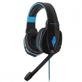 Kotion Each G4000 Gaming Headset Surround Headband with LED Light - Black/Blue