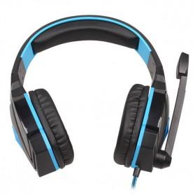 Kotion Each G4000 Gaming Headset Surround Headband with LED Light - Black/Blue - 4