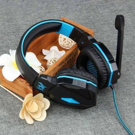 Kotion Each G4000 Gaming Headset Surround Headband with LED Light (bakcup) - Black/Blue - 10