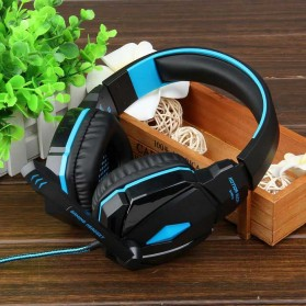 Kotion Each G4000 Gaming Headset Surround Headband with LED Light - Black/Blue - 11