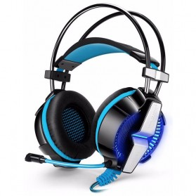 Jual PC Gaming - Kotion Each G7000 Pro Gaming Headset 7.1 Anti Noise with Vibration Mode LED Light - Blue