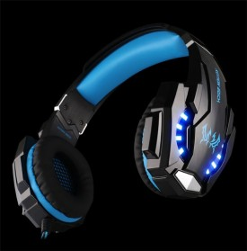 Kotion Each G9000 Gaming Headset Twisted with LED Light - Black/Blue - 3