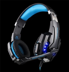 Kotion Each G9000 Gaming Headset Twisted with LED Light - Black/Blue - 4