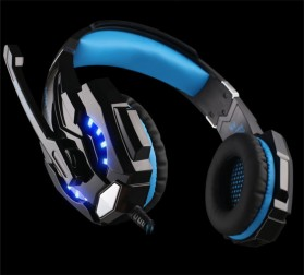 Kotion Each G9000 Gaming Headset Twisted with LED Light - Black/Blue - 5