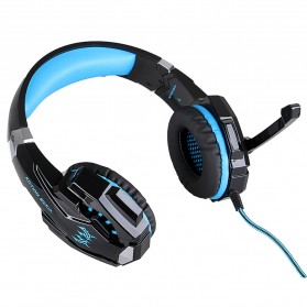 Kotion Each G9000 Gaming Headset Twisted with LED Light - Black/Blue - 6