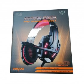 Kotion Each G9000 Gaming Headset Twisted with LED Light - Red - 10