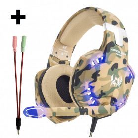 Kotion Each G2600 Gaming Headset Headphone LED Light with Mic - Camouflage - 1