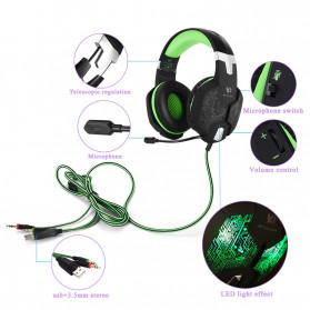 Kotion Each G2600 Gaming Headset Headphone LED Light with Mic - Camouflage - 3