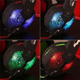 Kotion Each G2600 Gaming Headset Headphone LED Light with Mic - Camouflage - 8