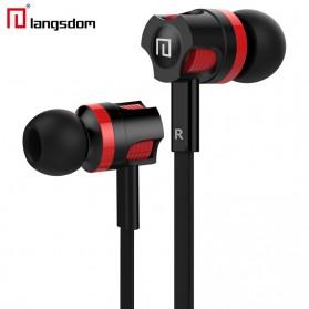 Langsdom Dynamic Super Bass Earphone dengan Mic - JM26(backup) - Black/Red