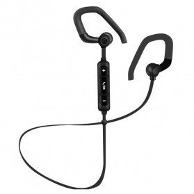 PTM Sport Wireless Bluetooth Earphone dengan Mic - B19 - Black