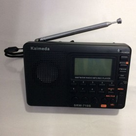 Audio Speaker Komputer PC / Laptop - Kaimeda Portable FM Radio Player TF Card -  SRW-710S - Black