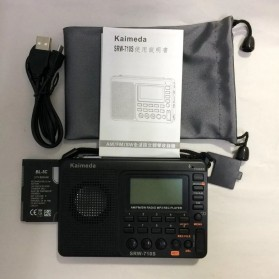 Kaimeda Portable FM Radio Player TF Card -  SRW-710S - Black - 3