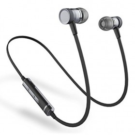 PICUN Earphone Bluetooth Sport Bass dengan Microphone - H6 - Black
