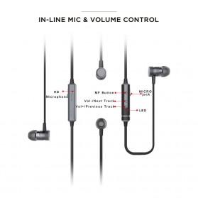PICUN Earphone Bluetooth Sport Bass dengan Microphone - H6 - Black - 6