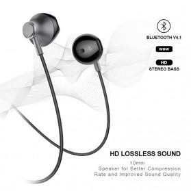 PICUN Earphone Bluetooth Earpods dengan Microphone - H2 - Black - 5