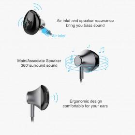 PICUN Earphone Bluetooth Earpods dengan Microphone - H2 - Black - 7