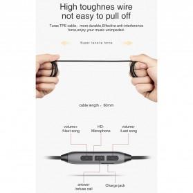 PICUN Earphone Bluetooth Earpods dengan Microphone - H2 - Black - 9