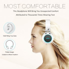 PICUN Gaming Wireless Bluetooth Headphone 7 Color Ring with TF & Mic - P60 - Black - 6