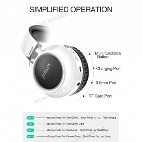 PICUN Gaming Wireless Bluetooth Headphone 7 Color Ring with TF & Mic - P60 - Black - 10