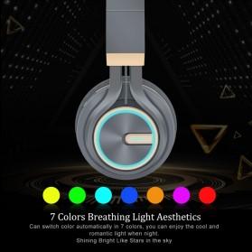 PICUN Wireless Bluetooth Headphone Glowing LED with Mic - B6 - Black - 3