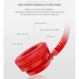 PICUN Wireless Bluetooth Headphone Glowing LED with Mic - B6 - Black - 9