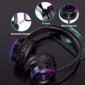 PICUN Wireless Bluetooth Headphone LED Touch Control with Mic - B9 - Black - 4