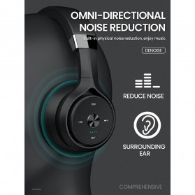 PICUN Wireless Bluetooth Headphone Noise Canceling with Mic - P28S - Black - 2