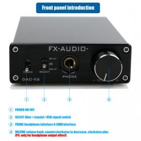FX-Audio DAC-X6 Mini HiFi Digital Audio Decoder 24Bit/96KHz - Black/Silver - 5
